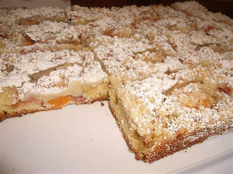 kuchen mit aprikosen rhabarber aprikosen kuchen rezept mit bild dyani