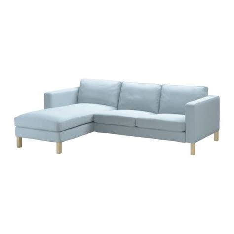 light blue sofa slipcover ikea karlstad 2 seat loveseat sofa and chaise slipcover