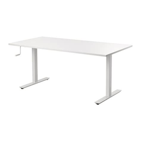 Ikea Adjustable Height Standing Desk Skarsta Desk Sit Stand White 160x80 Cm Ikea