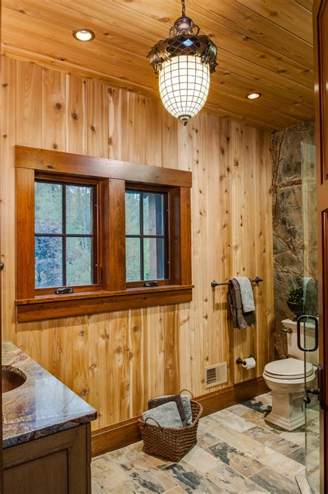 paneling haircut pictures rustic wood trim bathroom rustic with medium wood paneling