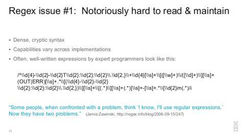 rosie pattern language regex considered harmful use rosie pattern language instead