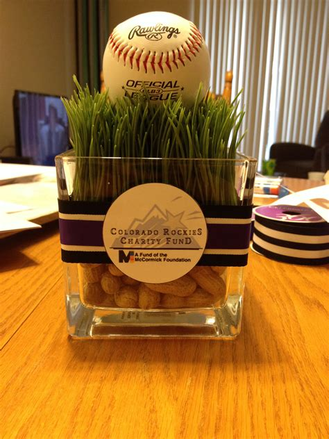 centerpiece for a baseball themed baseball