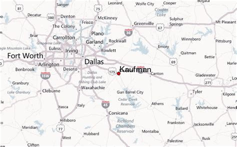 map of kaufman texas kaufman location guide