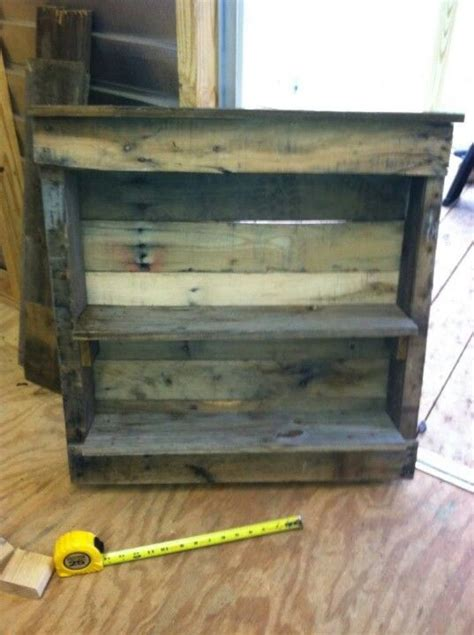 pin by mariam ovsepyan on pallet projects pinterest a cute shelf made from a small pallet reclaimed wood