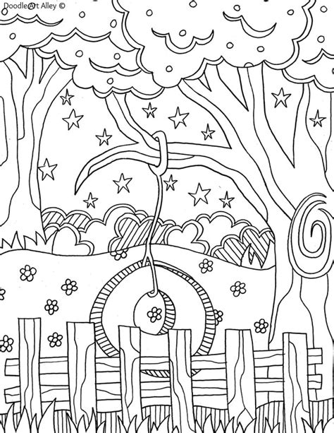 coloring pages for adults summer summer coloring pages doodle alley