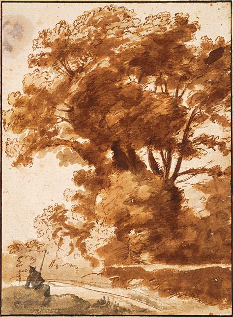 painting and drawing file claude lorrain of trees and resting sheperd