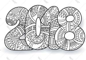 New Years Coloring Pages printable new years coloring pages 2018 wish you a
