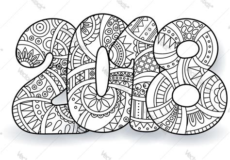 Happy New Year Coloring Pages 2018 Free Printable Happy New Year Coloring Page