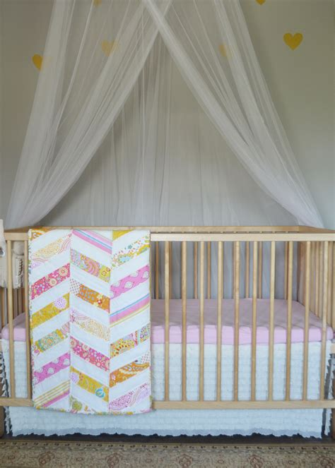 How Much Fabric For Crib Skirt by Sew An Easy Ruffled Crib Dust Ruffle The Diy