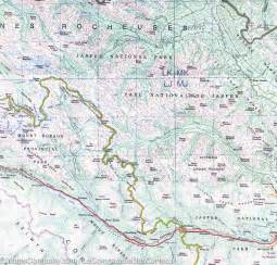 map of jasper map of jasper national park and northern alberta itm