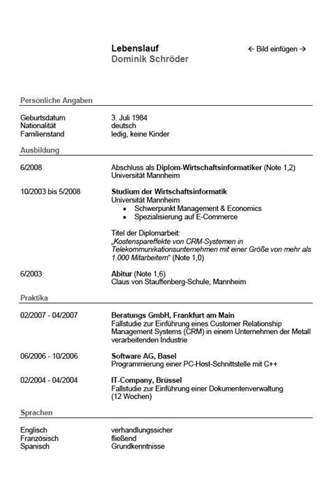 Tabellarischer Lebenslauf Vorlage Schweiz Tabellarischer Lebenslauf Beispiel Muster F 252 R Die Bewerbung Design Inspiration