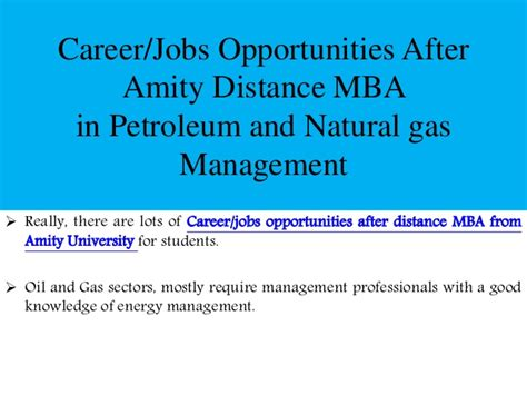 Mba In Material Management In India by Amity Distance Mba In Petroleum And Gas Management