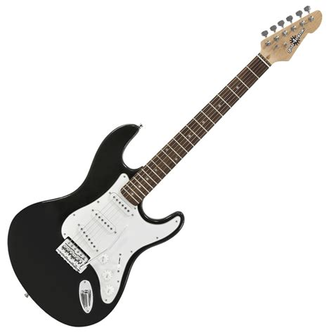 nearly new la electric guitar by gear4music black nearly new at