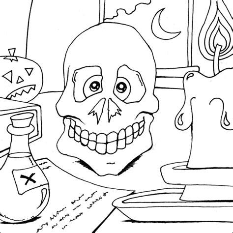 coloring pages halloween skulls halloween skull coloring