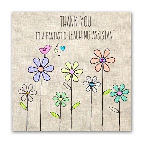 Thank You Note To Assistant Teaching Assistant Thank You Card Karenza Paperie