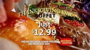 golden corral prices for buffet golden corral thanksgiving day buffet tv commercial new