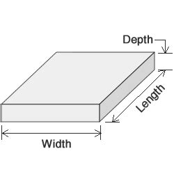 With dimensional units for cubic yards of concrete volume calculation