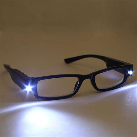 unisex reading eye glasses eyeglasses spectacal with led