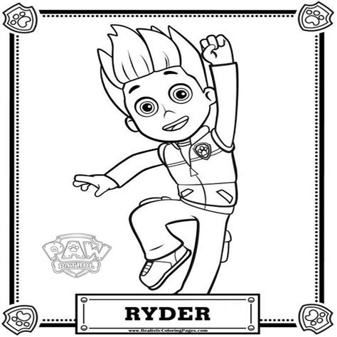 paw patrol ryder coloring pages to print ryder paw patrol coloring pages to print drawings