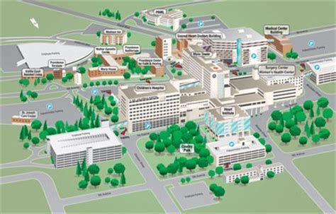 seattle hospitals map facility map sacred children s hospital spokane