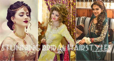bridal hairstyles on tune pk trendy pakistani bridal hairstyles 2017 new wedding