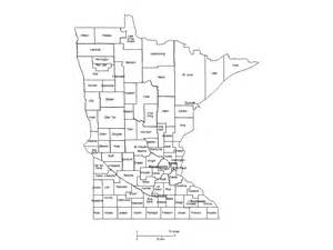 minnesota counties major cities powerpoint map maps for