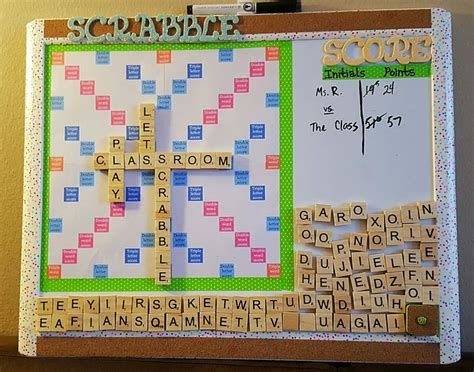 scrabble classroom theme magnetic scrabble board for the classroom i made it from