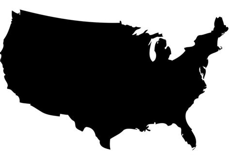 us map outline vector blank map united states vector