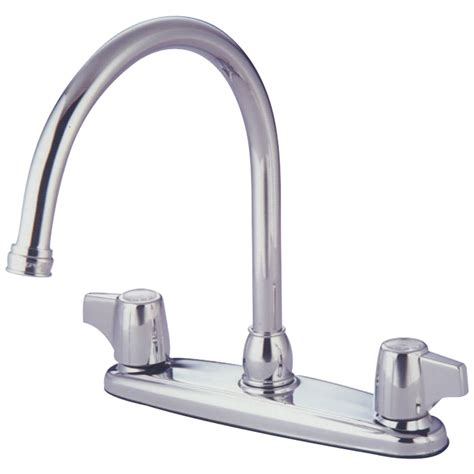Water Saving Kitchen Faucet by Kingston Brass Gkb771 Water Saving Vista Centerset Kitchen Faucet With Canopy Handles Chrome