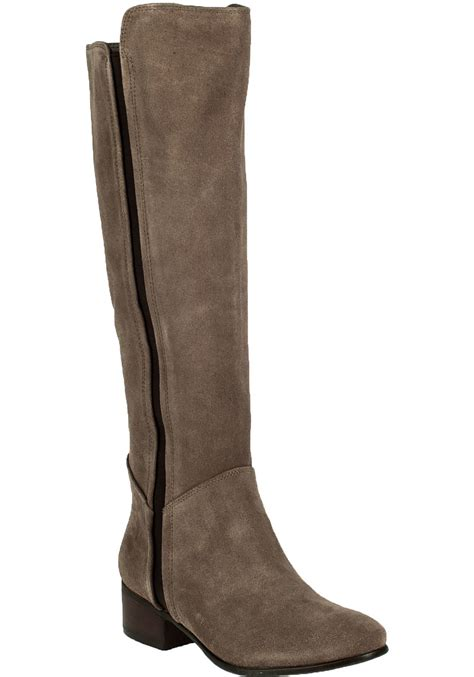 steve madden pullon suede boots in brown lyst