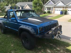 jeep comanche blue jeep comanche 4x4 blue and black mud truck custom