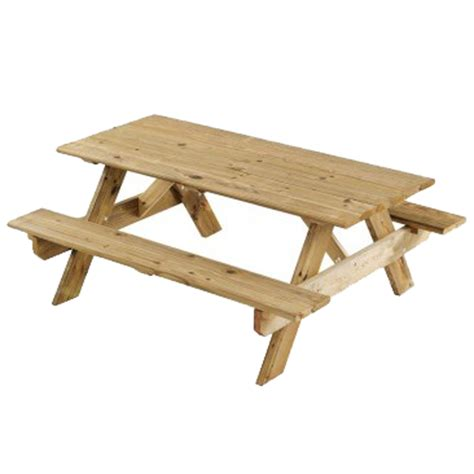 wood picnic bench and table picnic table w benches wood