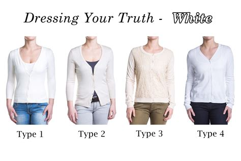 type 4 dressing your truth dyt dressing your truth whites type 1 ivory type 2