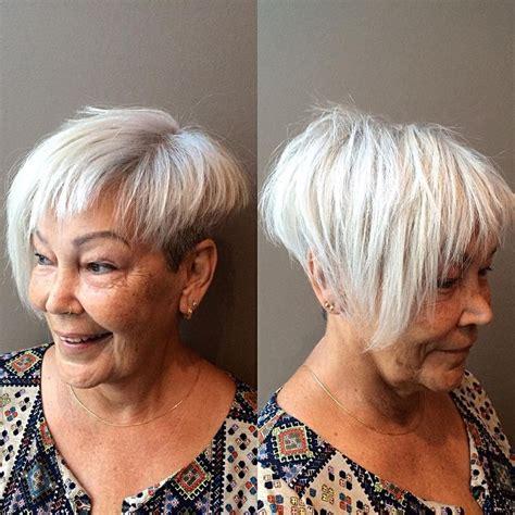 funky asymmetrical haircut style for older women image result for shaved short hair mature women hair