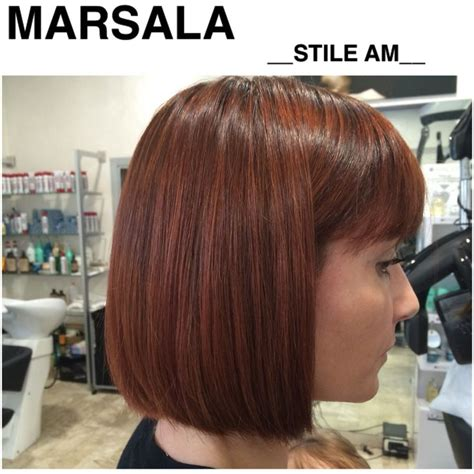 how to get marsala as a hair color instyle marsala hair color stile am parrucchieri ronze hair