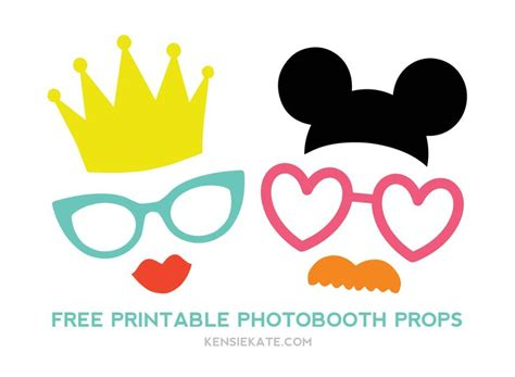 free printable disney photo booth props template 270 best images about photo booth props on pinterest
