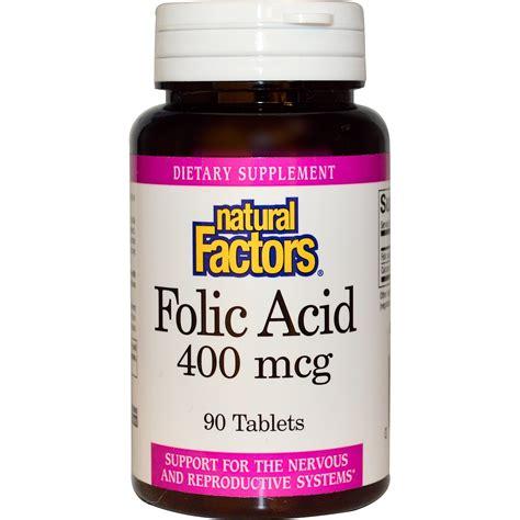 Mcg For Methhet Detox F Folate Supplements by Factors Folic Acid 400 Mcg 90 Tablets Iherb
