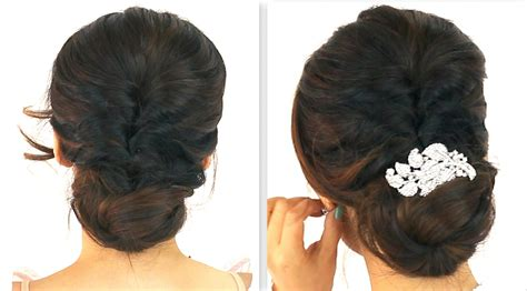 hairstyles for party bun 5min easiest party updo everyday braided bun prom