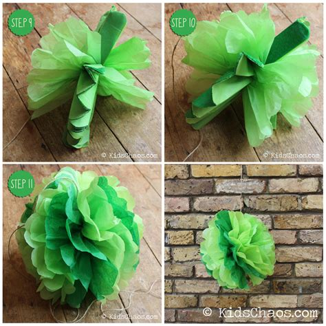Make Something With Paper - how to make paper pom poms kidschaos