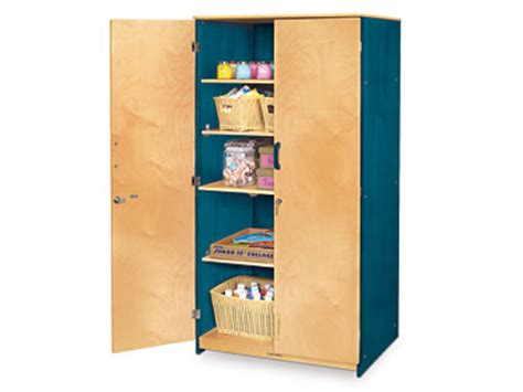 Teachers Closet by Colors Of Nature 174 Locking Storage Cabinet At Lakeshore