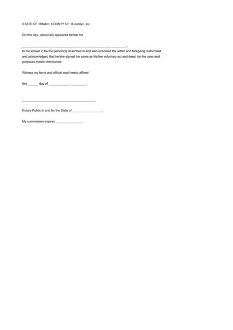 notarized letter template free premium