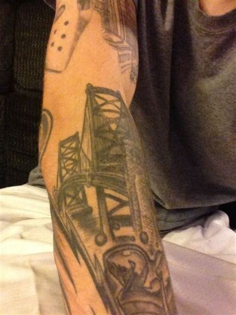 benjamin franklin tattoo ben franklin bridge bridge tattoos