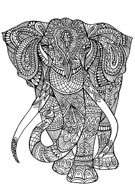 Detailed Elephant Coloring Pages | detailed coloring pages animals elephant coloringstar