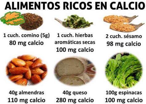 alimentos que contengan mucho calcio alimentos calcio mucho viviendo hoy