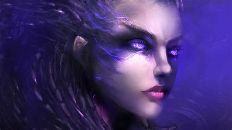 Home Design 3d Compact Download Hd Background Starcraft 2 Game Sarah Kerrigan Art Face