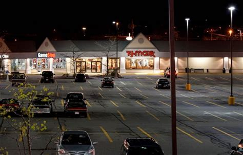 parking lot light repair near me t j maxx upgrades with mall parking lot led lights cree