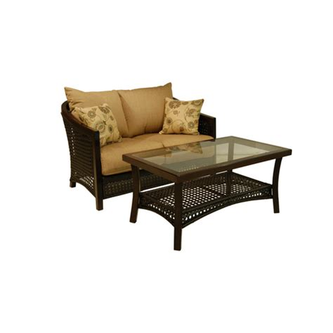 allen and roth outdoor furniture lowes allen roth cranston all weather wicker patio chairs loveseat sets lounging furniture outdoor