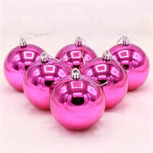 popular pink christmas ball ornaments buy cheap pink
