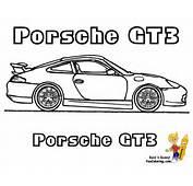 Porsche 911 Gt3 Colouring Pages