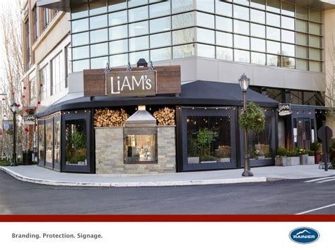 awning restaurant enclosures commercial awnings